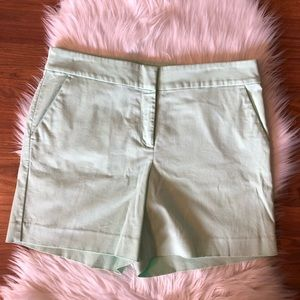 LOFT Shorts Teal Mint Flat Front Chino Size 10